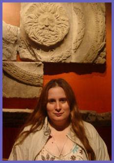 Vera Nadine, in Front of Minerva's Temple