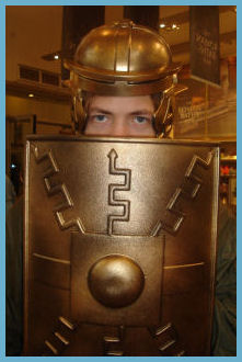 Serge, Playing with Centurion Armor in the Gift Shop