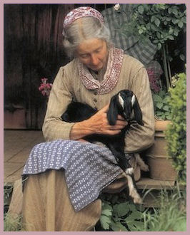 Tasha Tudor with her Beloved Goat