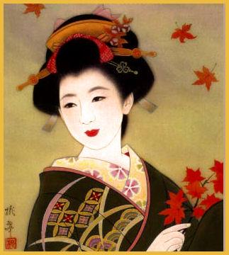 Autumn Geisha Girl
