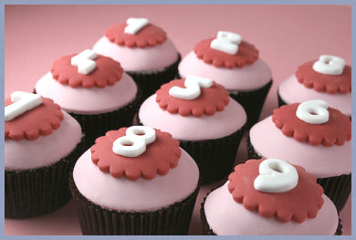 Numbers on Cupcakes